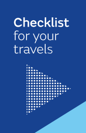 Checklist for your travels